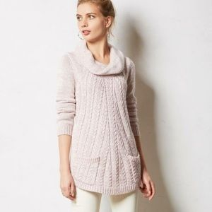 Anthropologie Guinevere Cowl Neck Pink Sweater